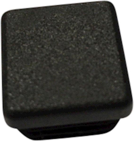 Tube end plug, black (20x20-1,5-2)