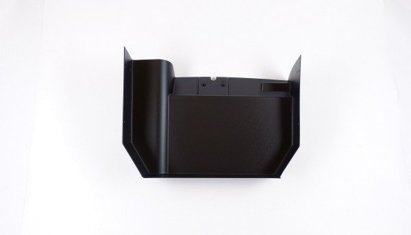 Front storage box, front