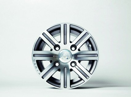 "10"" Alu Rim, Design 1, Gun Grey Diamond Cut"