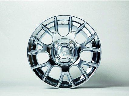 """12"""" chrome rim (Design 3) with hub cover"""