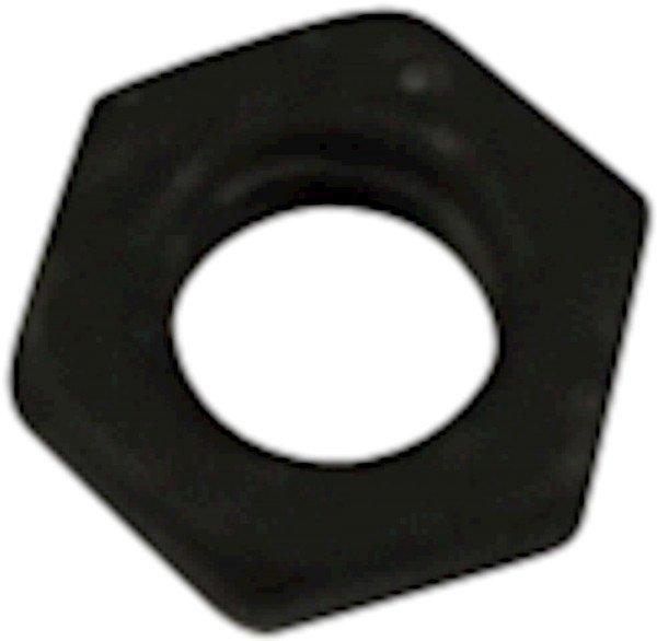 Nut, M6, Black, DIN439/ISO4035