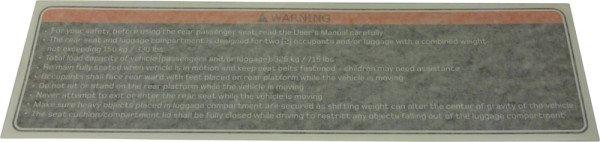 Roof label FS1