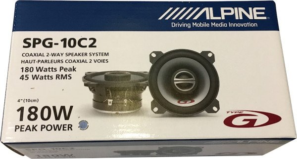 Alpine SPG-10C2 45w 180w 2-way speakers (set of 2)