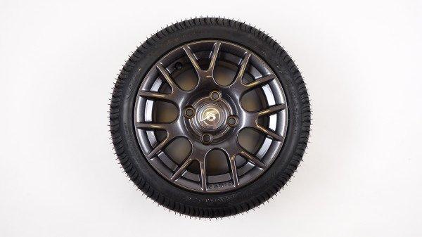 "12"" Complete Alu Wheel, Gun Grey"