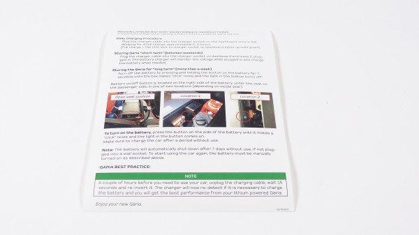 Window sticker, lithium information