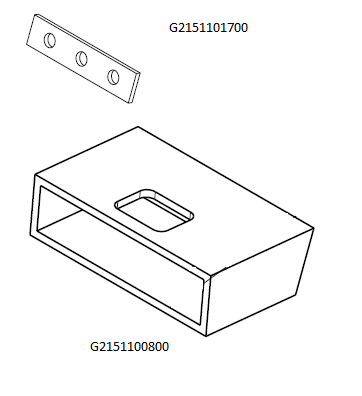 Repair kit, Bracket air scoop hinge