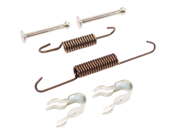 Fastening kit for rear brake shoe