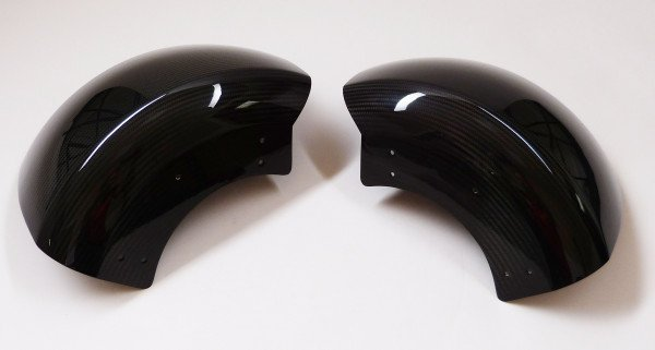 Mansory, Rear mudguard set coated carbon