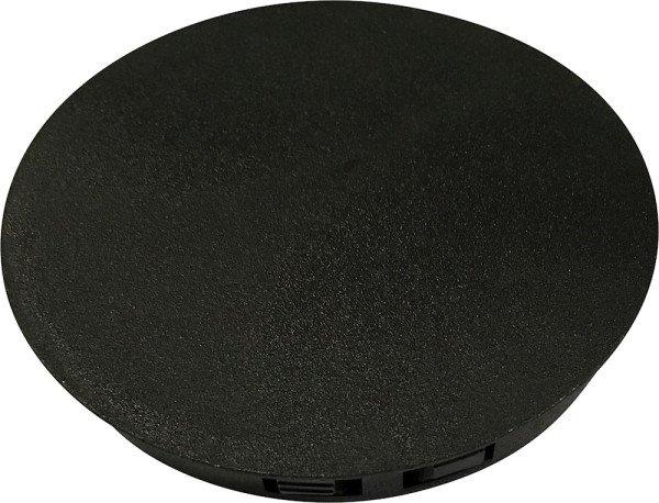 Cap service hatch inspection holes Black
