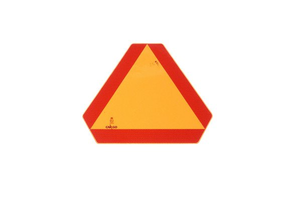 Red reflecting warning triangle, large