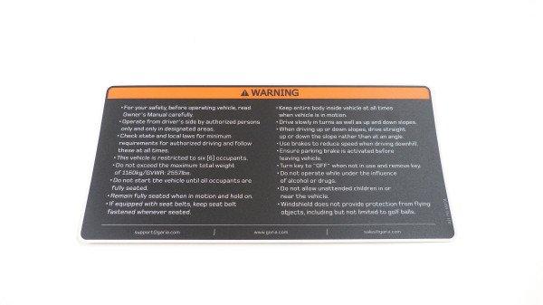 Warning label 2