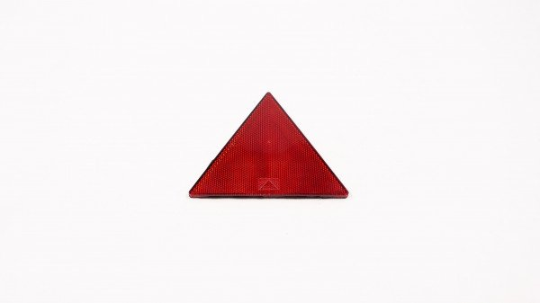 Red reflecting warning triangle, small